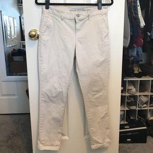 Khaki Skinny Boyfriend Pants